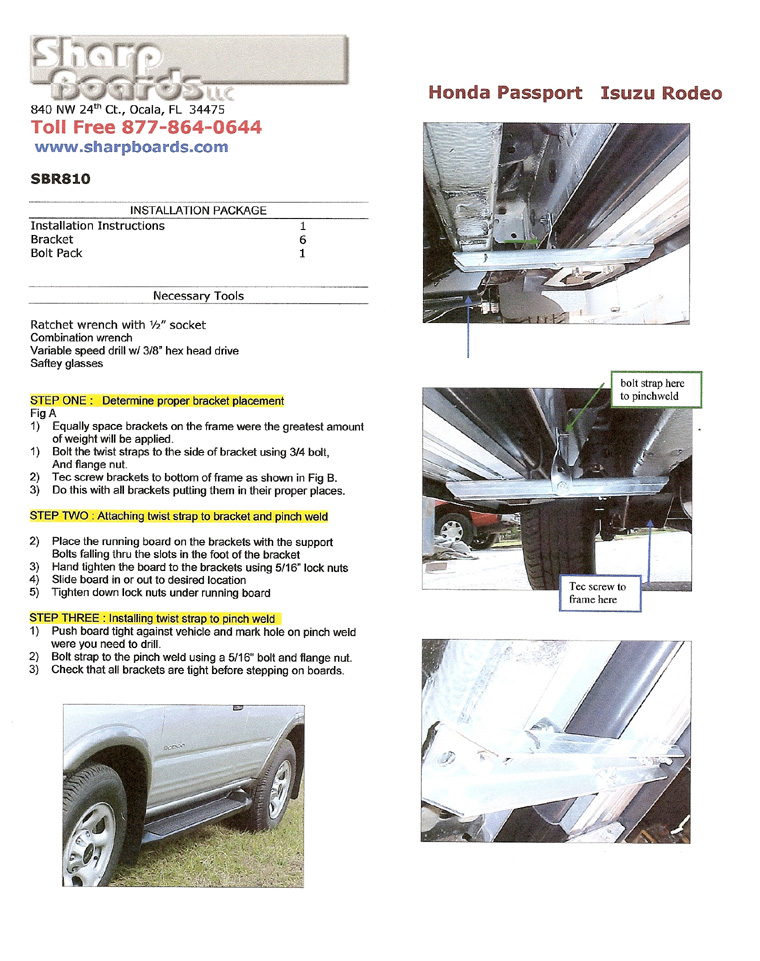 Installation Instructions | Running Board Warehouse