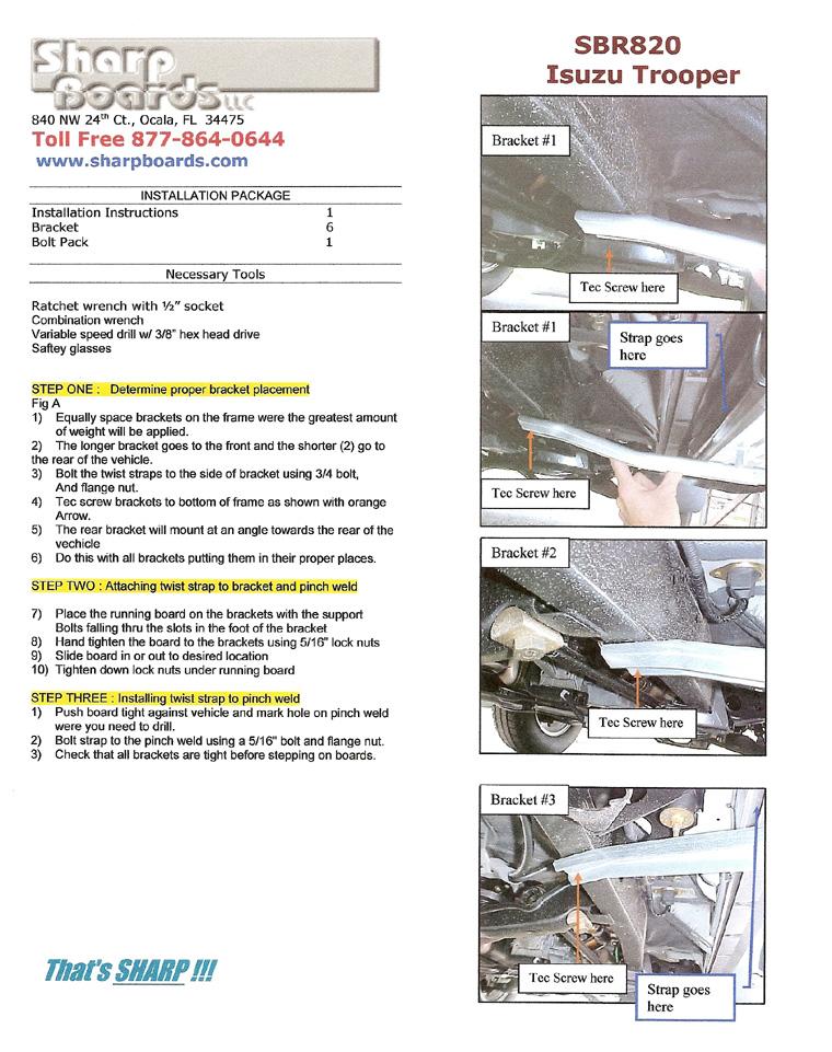 Stupendous Installation Instructions Running Board Warehouse Wiring 101 Ivorowellnesstrialsorg